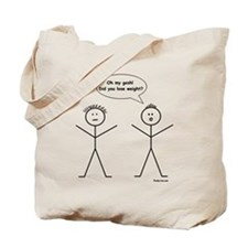 Stick Figure Weight Loss Tote Bag