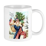 Uncle Sam Santa Claus Coffee Mug