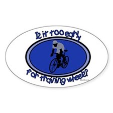 Training Wheels Oval Decal