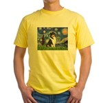 Starry Night / Collie (tri) Yellow T-Shirt