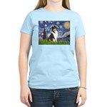 Starry Night / Collie (tri) Women's Light T-Shirt