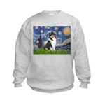 Starry Night / Collie (tri) Kids Sweatshirt