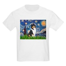 Starry Night / Collie (tri) T-Shirt