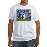 Starry Night / Collie (tri) Fitted T-Shirt