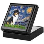 Starry Night / Collie (tri) Keepsake Box