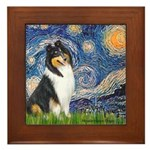 Starry Night / Collie (tri) Framed Tile