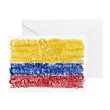 Textual Colombia Greeting Cards (Pk of 10)