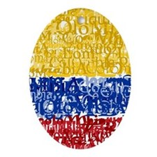 Textual Colombia Oval Ornament