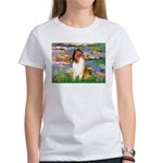 Lilies (2)/Collie (1S) Women's T-Shirt