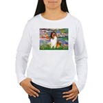 Lilies (2)/Collie (1S) Women's Long Sleeve T-Shirt