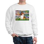 Lilies (2)/Collie (1S) Sweatshirt