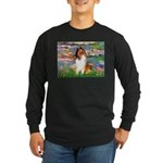 Lilies (2)/Collie (1S) Long Sleeve Dark T-Shirt