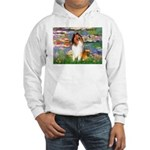 Lilies (2)/Collie (1S) Hooded Sweatshirt