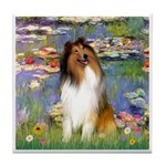 Lilies (2)/Collie (1S) Tile Coaster