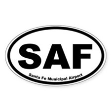 Santa Fe Municipal Airport Oval Decal