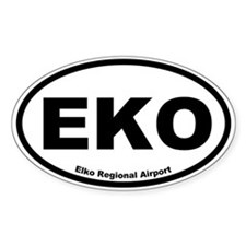 Elko Regional Airport Oval Decal