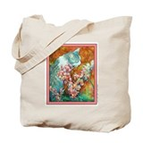 Begonia Cat Tote/ Grocery or Book Bag
