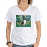 Bridge / Collie (tri) Women's V-Neck T-Shirt