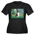Bridge / Collie (tri) Women's Plus Size V-Neck Dar