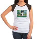 Bridge / Collie (tri) Women's Cap Sleeve T-Shirt