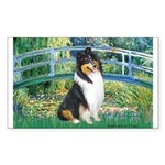 Bridge / Collie (tri) Sticker (Rectangle)