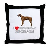 I Love Rhodesian Ridgebacks Throw Pillow