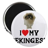 "I Love My Pekingese 2.25"" Magnet (100 pack)"