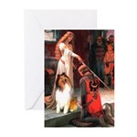 Accolade / Collie (s&w) Greeting Cards (Pk of 20)