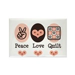 Peace Love Quilt Quilting Rectangle Magnet