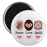 Peace Love Quilt Quilting Magnet