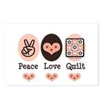 Peace Love Quilt Quilting Postcards (Package of 8)