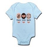 Peace Love Quilt Quilting Infant Bodysuit