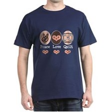 Peace Love Quilt Quilting T-Shirt