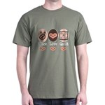 Peace Love Quilt Quilting Dark T-Shirt