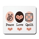 Peace love knitting Classic Mousepad