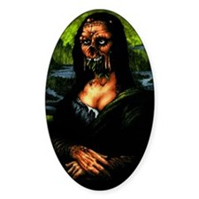 Moaning Lisa Oval Decal