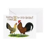 Dutch Bantam Time! Greeting Cards (Pk of 20)