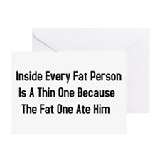 Inside Fat Person Greeting Card