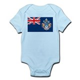 Tristan Da Cunha Flag Infant Creeper