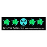 Save The Turtles Bumper Bumper Car Sticker