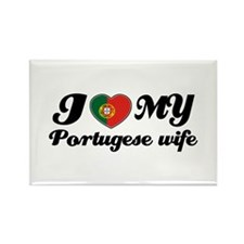 I love my portuguese wife Rectangle Magnet (100 pa