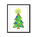 ILY Christmas Tree Framed Panel Print
