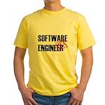 Off Duty Software Engineer Yellow T-Shirt
