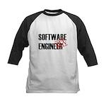Off Duty Software Engineer Kids Baseball Jersey