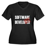 Off Duty Software Developer Women's Plus Size V-Ne