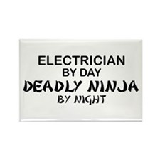 Electrician Deadly Ninja Rectangle Magnet
