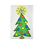 ILY Christmas Tree Rectangle Magnet
