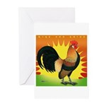 Rise and Shine Dutch Bantam Greeting Cards (Pk of