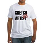 Off Duty Sketch Artist Fitted T-Shirt