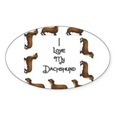 Dachshund 2 Oval Decal
